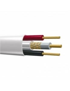 Кабель КВК-В 2х0.5мм (12V) внутренний Plexus 100 м/4 белый